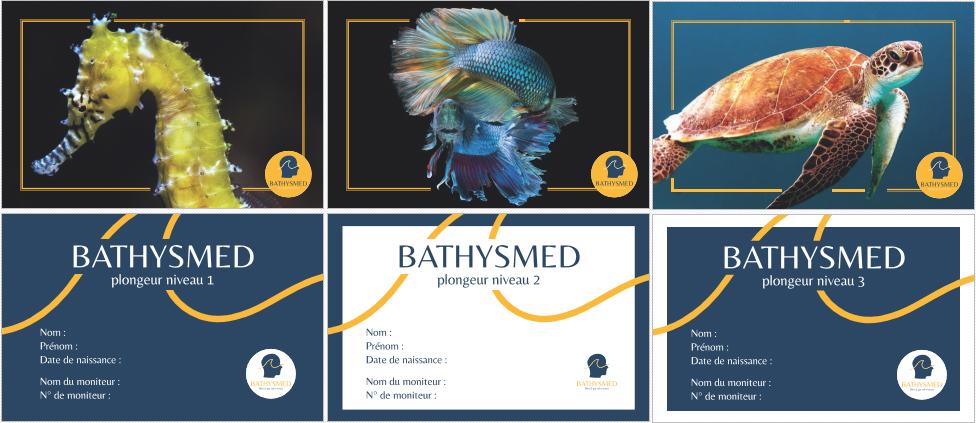Les cartes de niveaux de plongée bien-être Bathysmed